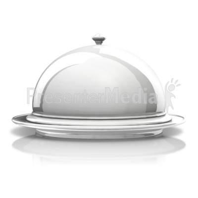 Silver Platter Display Presentation clipart