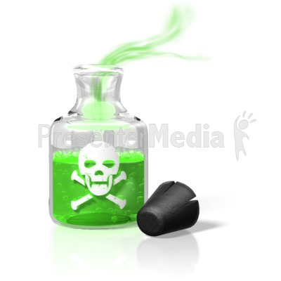 Poison Bottle Fumes Presentation clipart