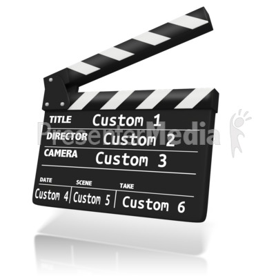 Custom Clap Board Insert Presentation clipart