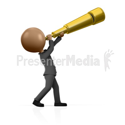 Busniess Man Telescope Presentation clipart