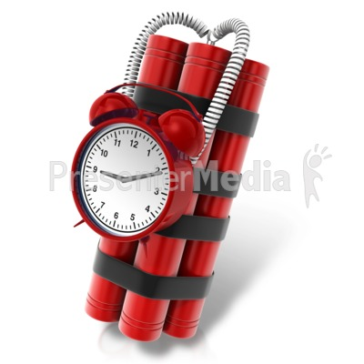 Wired Time Bomb Presentation clipart