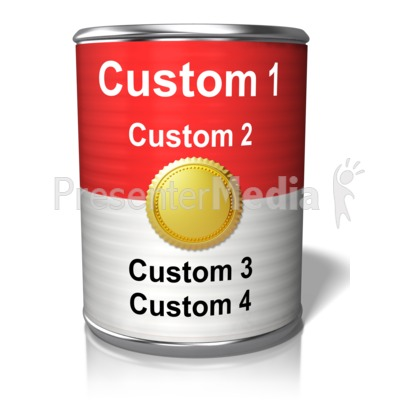 Custom Tin Can Presentation clipart