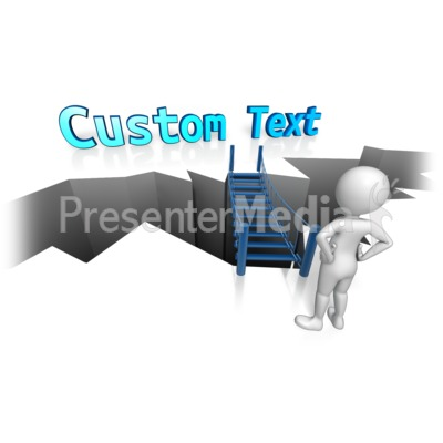 Bridge To Custom Text Presentation clipart