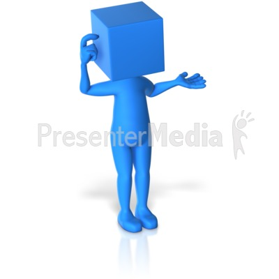 Blockhead Thinking Presentation clipart