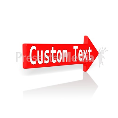 Custom Red Arrow Presentation clipart