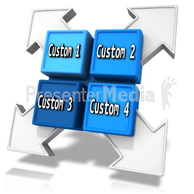 Custom Square Division Element Presentation clipart