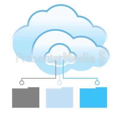 Cloud Files Transfer Presentation clipart