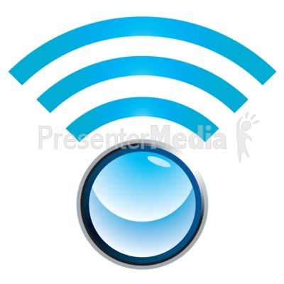 Wifi Sphere Signal Presentation clipart