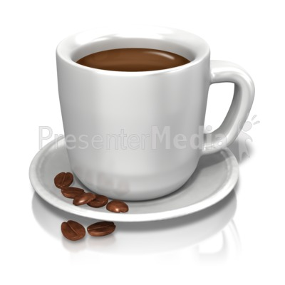 Coffee Cup Beans Presentation clipart