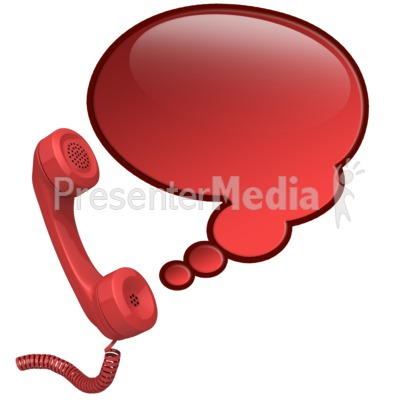Phone Talk Bubble Presentation clipart