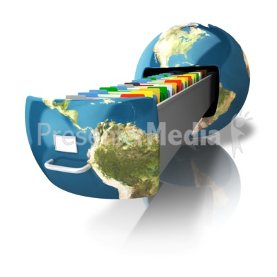 File Cabinet Earth Presentation clipart