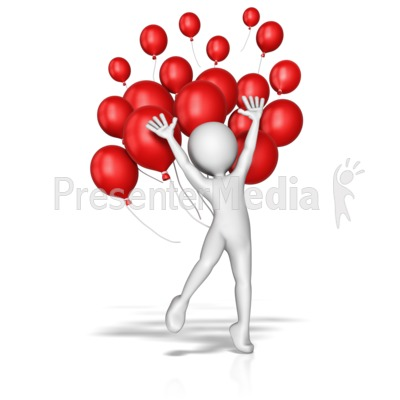 Balloon Jump Celebration Presentation clipart