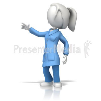 Esd Coat Lady Scientist Presentation clipart