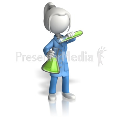 Woman Scientist Pour Testtube Presentation clipart