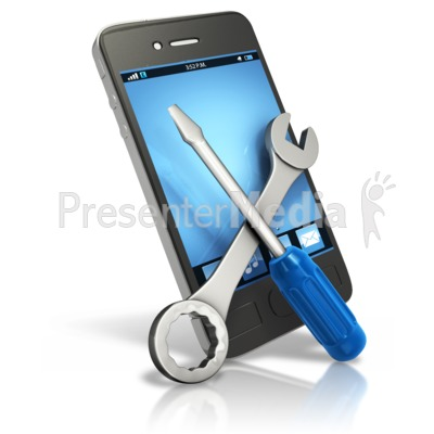 Smart Phone Tech Fix Presentation clipart