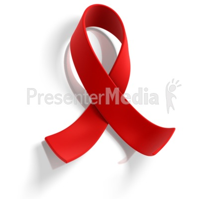 Red Ribbon Awareness Presentation clipart