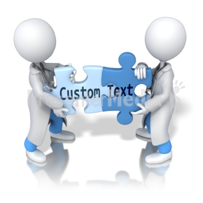 Solving Custom Text Puzzle Presentation clipart