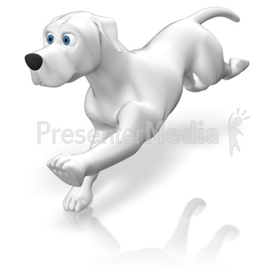 Dog Running Presentation clipart