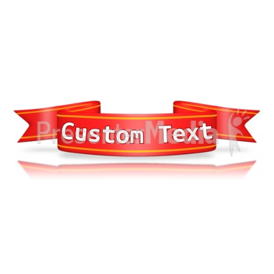Custom Red Flag Banner Presentation clipart