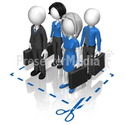 Business Team Cut Here Presentation clipart