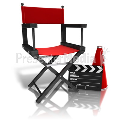 Movie Directors Equipment Presentation clipart