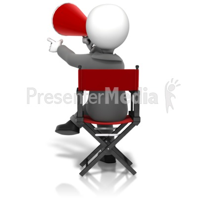 Director Sitting In Chair Presentation clipart