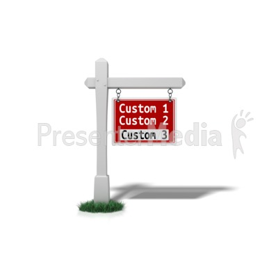 Custom For Sale Sign Presentation clipart