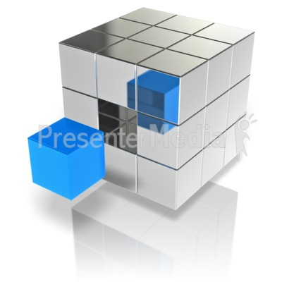 Cube Stand Out Presentation clipart