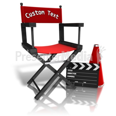 Custom Movie Directors Equipment Presentation clipart