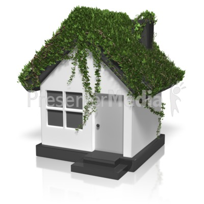 Ivy Covered House Presentation clipart