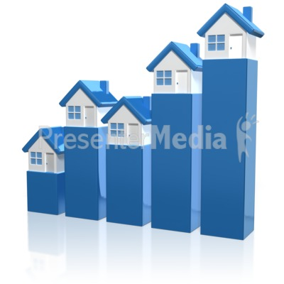 House Market Graph Presentation clipart