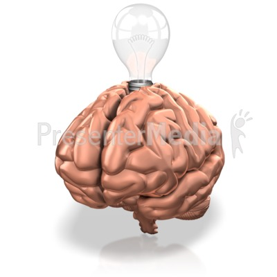 Lightbulb In Brain Presentation clipart