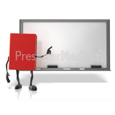 Book At Chalk Board Presentation clipart