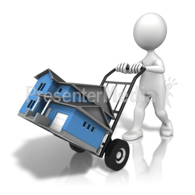 House Moving Cart Presentation clipart
