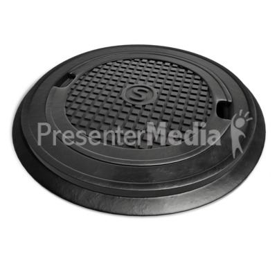 Top Lid Of Sewer Presentation clipart