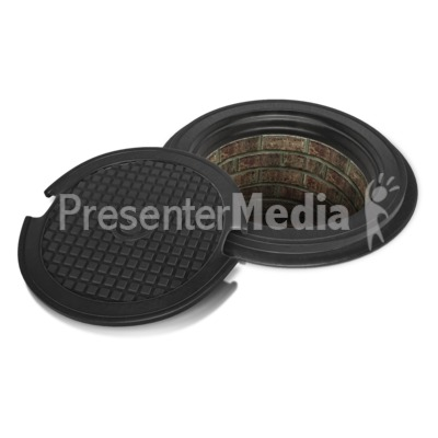 Sewer Lid Off Presentation clipart
