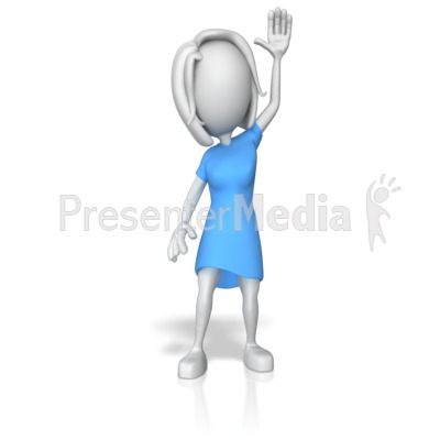 Woman Raising Hands Presentation clipart
