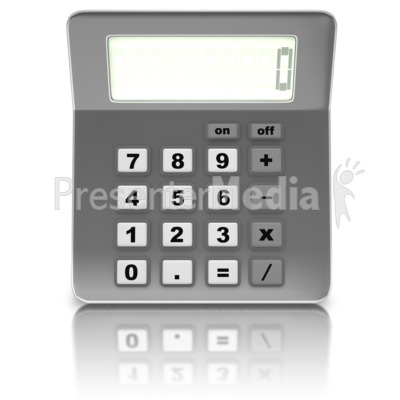 Front Of Calculator Presentation clipart