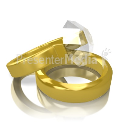Two Gold Rings Presentation clipart