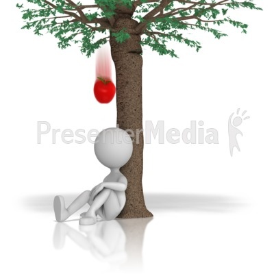Apple Falling From Tree Presentation clipart