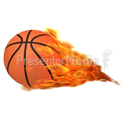 Basketball Flaming Presentation clipart