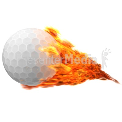 Golfball Flaming Presentation clipart