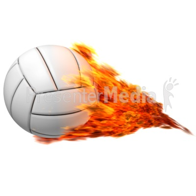 Volleyball Flaming Presentation clipart