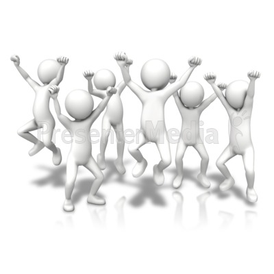 Group Jumping Up Presentation clipart