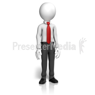 Man Shirt Tie Standing Presentation clipart