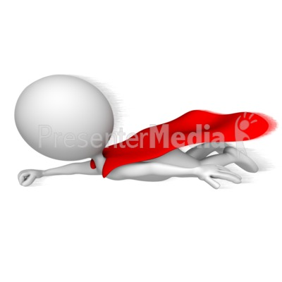 Superhero Flying Fast Presentation clipart