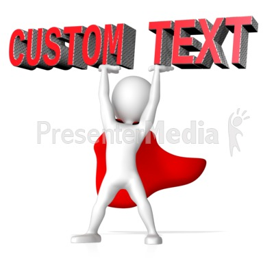 Super Hero Lifting Text Presentation clipart