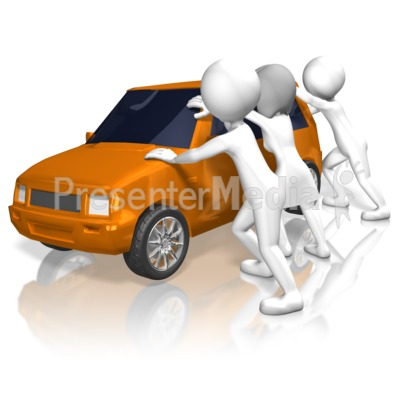 Rioters Rock Car Presentation clipart