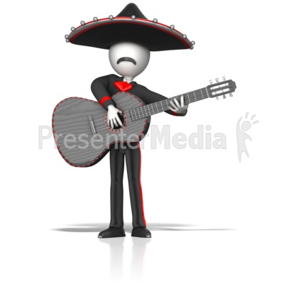 Mariachi Guitar Player Presentation clipart