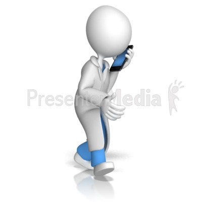 Doctor or Nurse Talking On Phone Presentation clipart